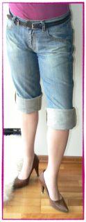 MISS SIXTY Jeans Hose MANIA BOYFRIEND CAPRI HELLBLAU 30