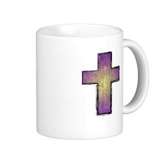 Christian Coffee Mugs    Christ is my rock Cross