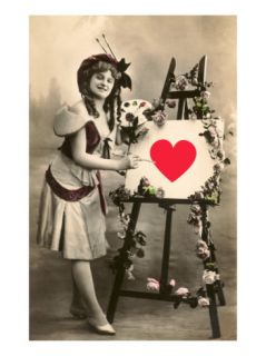 Happy Valentines Day, Painter Lady Prints