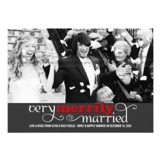 Merry Everything Happily Married Holiday Card