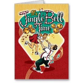 Jingle Bell Time Swing Dance Christmas Card
