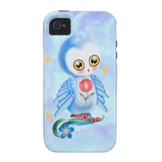 Big Eye Blue Owl iPhone 4 Covers