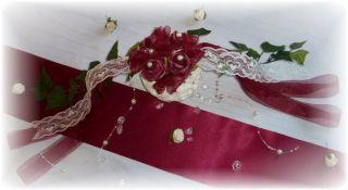 Tischdeko Hochzeit Konfirmation bordeaux TRENDY