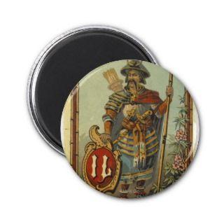 Samurai Mongol Warrior Poster Print Magnet