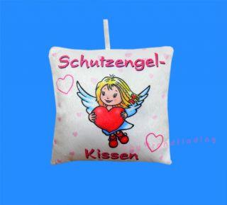 SCHUTZENGEL ENGEL KISSEN HERZ GLÜCKSBRINGER 18 x 18