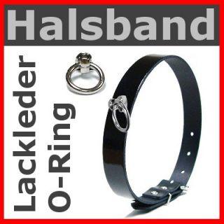 LACK Leder HALSBAND O Ring / Gothic Punk Emo Cyber Rock