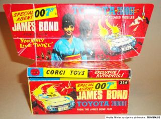 Reprobox Corgi Toys Nr. 336   James Bond Toyota 2000 GT mit Display