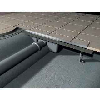 Edelstahl Duschrinne Ablaufrinne Bodenablauf APZ7 90 cm mit Rost zum