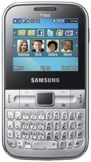 Samsung C3222 Ch@t322 Duos Dual Sim Metallic Silver NEU & OVP Chat322