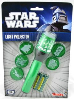 Star Wars Taschenlampe SET mit 5 Aufsätzen (grün) NEU