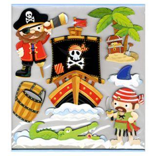 3D Sticker Wandsticker Wandaufkleber Kinderzimmer Dekoration Pirat