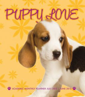 Puppy Love   2013 Academic Sof Cover Personal Planner Calendars