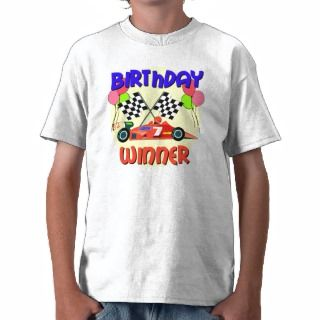7th Birthday Race Car Birthday Tshirts