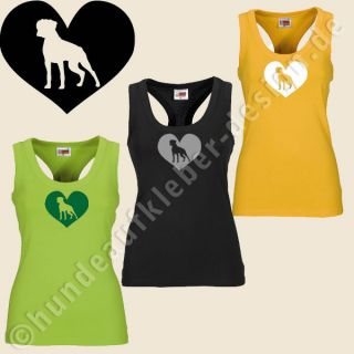 Boxer Hunde Fan Girls Tank Top  Frauen T Shirt Art337
