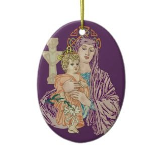 Celtic Christmas Madonna Ornaments