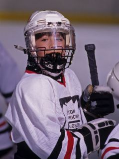Porrai of Young Ice Hockey Player Phoographic Prin