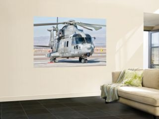 An Italian Navy Eh101 Helicopter at Forward Operating Base Herat, Afghanistan Posters by Stocktrek Images