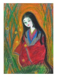 Court Lady?In Bamboo Forest Giclee Print by Mariko Miyake