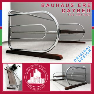 VINTAGE BAUHAUS ERE CHROME DAYBED STAHLROHR SOFA MID CENTURY MODERN A