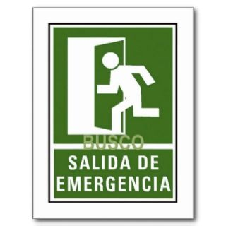 SALIDA DE EMERGENCIA POST CARD