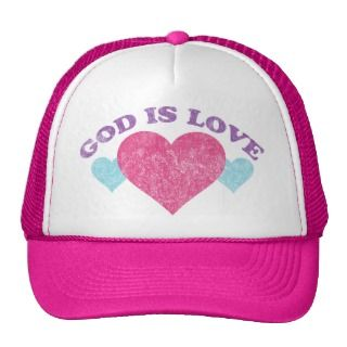 God Is Love Vintage Hats