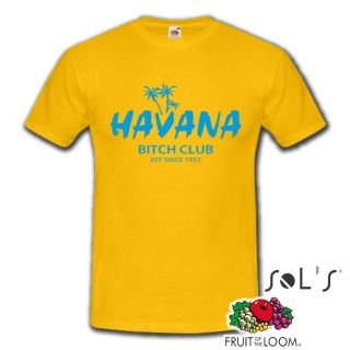 Havana Bitch Club Cuba Strand Sommer Beach Sex Fun T Shirt Herren