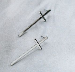 New Arrive Vintage Earring Temperament Cross Ear Nail Lovers Stud