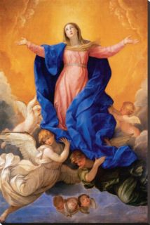 Ascension of Mary Stretched Canvas Print by Guido Reni