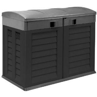 41 811 schwarz grau Gerätehaus, Geräteschuppen, Mülltonnenbox