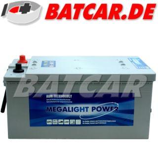AGM Batterie Megalight POWER LKW Batterie 12V 230Ah