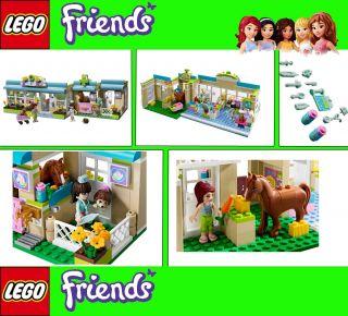 LEGO FRIENDS SET 3188 & 3189 Tierklinik Klinik Heartlake Pferdestall