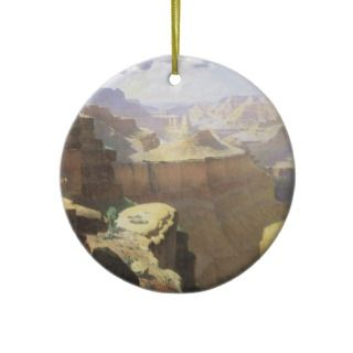 Grand Canyon by Leigh, Vintage American West Art Christmas Tree