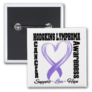 Hodgkins Disease Awareness Brushed Heart Ribbon Pin