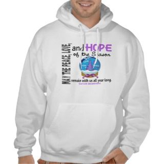 Christmas Holiday Snow Globe 1 Cancer Hooded Pullovers