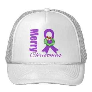 Cancer Christmas Ribbon Wreath Hats and Cancer Christmas Ribbon Wreath