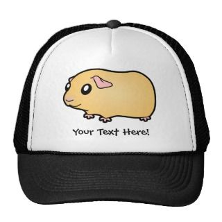 Cartoon Guinea Pig (cream) hats by SugarVsSpice