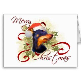 Miniature Pinscher Christmas Card