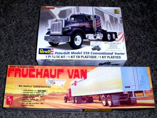 Truck Peterbilt Model 359 Conventional Tractor Trailer 1 25 Revell AMT
