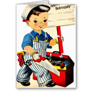 Space Boy   Retro Nephew Happy Birthday Card