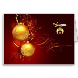 Shriner Emblem Christmas Greetings Greeting Cards