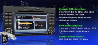 Mercedes Benz A + B Klasse SPRINTER VITO VIANO NAVI DVD GPS Bluetooth