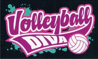 VOLLEYBALL DIVA Funny Ball Sport Game Team Beach Volleybal T Shirt