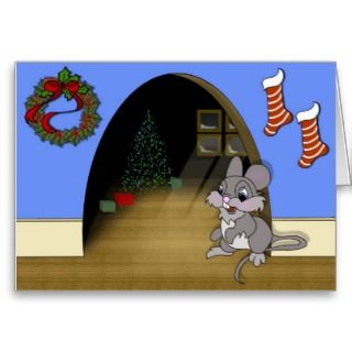 Christmas Mouse Greeting Cards