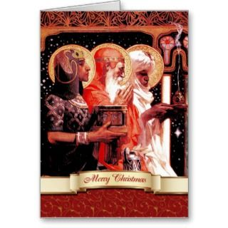 The Three Wise Men. Christmas Creeting Card