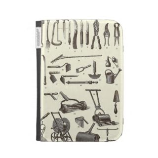 The Elegant Gardener   Antique Garden Tools Kindle Keyboard Covers