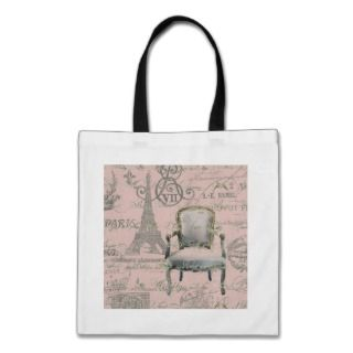 Chic Vintage Floral Paris Eiffel Tower Bags