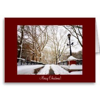 New York City Christmas Card   Snow City Scene