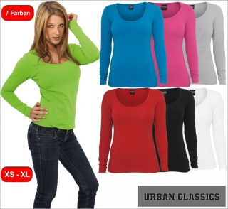Urban Classics Ladies Basic Longsleeve Tee Langärmliges Frauen T