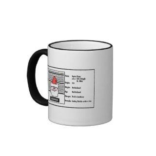 Funny Santa Claus Christmas Mug mugs by yourmamagreetings