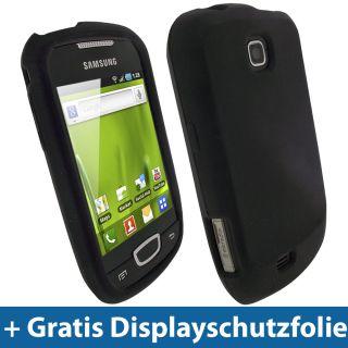 Schwarz Silikon Tasche für Samsung Galaxy Mini S5570 Hülle Case Skin